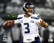 "Russell Wilson Autographed 16x20 Photo Seattle Seahawks Super Bowl ""SB XLVIII Champs"" RW Holo Stock #105132"