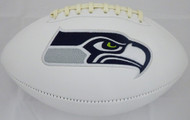 Unsigned Seattle Seahawks White Logo Football Stock #105665