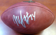 Marshawn Lynch Autographed NFL Leather Football Seattle Seahawks ML Holo Stock #106232