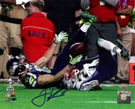 Jermaine Kearse Autographed 8x10 Photo Seattle Seahawks Super Bowl XLIX MCS Holo Stock #106270