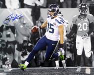 Jermaine Kearse Autographed 16x20 Photo Seattle Seahawks SB XLVIII Spotlight MCS Holo Stock #106301