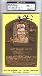 Sale!! Gary Carter Autographed HOF Postcard Mets, Expos Gem Mint 10 PSA/DNA Stock #106518