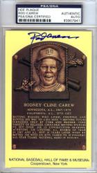 Sale!! Rod Carew Autographed HOF Postcard Twins, Angels PSA/DNA Stock #106520