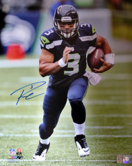 Russell Wilson Autographed 16x20 Photo Seattle Seahawks RW Holo Stock #106945