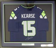 Seattle Seahawks Jermaine Kearse Autographed Framed Blue Nike Jersey MCS Holo Stock #107764