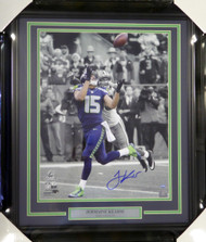 Jermaine Kearse Autographed Framed 16x20 Photo Seattle Seahawks NFC Championship MCS Holo Stock #107772