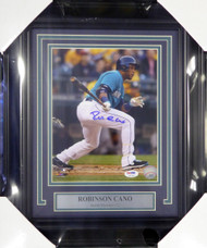 Robinson Cano Autographed Framed 8x10 Photo Seattle Mariners PSA/DNA Stock #107797