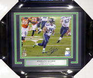 Jermaine Kearse Autographed Framed 8x10 Photo Seattle Seahawks Super Bowl XLVIII MCS Holo Stock #107803