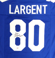 "Seattle Seahawks Steve Largent Autographed Blue Jersey ""HOF 95"" MCS Holo Stock #112485"
