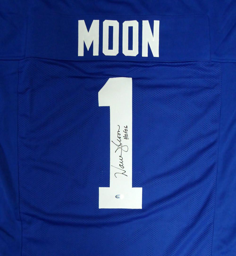 060ccabe2 Seattle Seahawks Warren Moon Autographed Blue Jersey