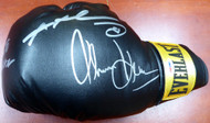 Boxing Greats Autographed Black Everlast Boxing Glove With 3 Signatures Including Sugar Ray Leonard, Thomas Hearns & Roberto Duran LH PSA/DNA Stock #112585