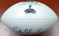 Steven Hauschka Autographed Super Bowl XLVIII Champions White Logo Football Seattle Seahawks MCS Holo Stock #112616
