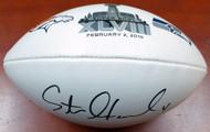 Steven Hauschka Autographed Super Bowl XLVIII White Logo Football Seattle Seahawks MCS Holo Stock #112617