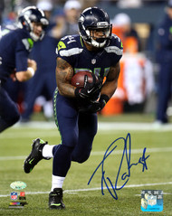 Thomas Rawls Autographed 8x10 Photo Seattle Seahawks MCS Holo Stock #113464