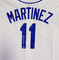 Seattle Mariners Edgar Martinez Autographed White Majestic Cool Base Jersey Size XL MCS Holo Stock #113674