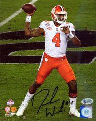 Deshaun Watson Autographed 8x10 Photo Clemson Tigers Beckett BAS Stock #113716