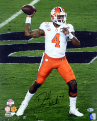 Deshaun Watson Autographed 16x20 Photo Clemson Tigers Beckett BAS Stock #113721