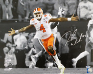 Deshaun Watson Autographed 16x20 Photo Clemson Tigers In Silver Beckett BAS Stock #113780
