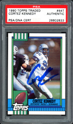 Sale!! Cortez Kennedy Autographed 1990 Topps Traded Rookie Card #44T Seattle Seahawks PSA/DNA Stock #114593