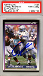 Cortez Kennedy Autographed 1990 Score Rookie Card #68T Seattle Seahawks PSA/DNA Stock #114594
