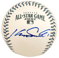 Kazuhiro Sasaki Autographed Official 2001 All Star Baseball Seattle Mariners In Staedtler Beckett BAS Stock #115088