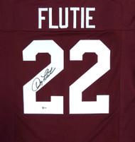 Sale!! Boston College Eagles Doug Flutie Autographed Red Jersey Beckett BAS Stock #119725