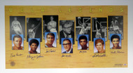 UCLA Bruins Legends Autographed 22x40 Lithograph With 7 Signatures Including Kareem Abdul-Jabbar, John Wooden & Bill Walton Beckett BAS Stock #121631