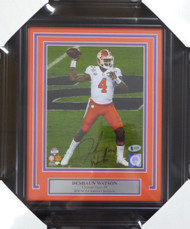 Deshaun Watson Autographed Framed 8x10 Photo Clemson Tigers Beckett BAS Stock #123686