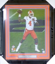Deshaun Watson Autographed Framed 16x20 Photo Clemson Tigers Beckett BAS Stock #123721