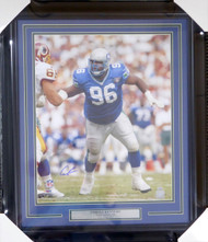 Cortez Kennedy Autographed Framed 16x20 Photo Seattle Seahawks MCS Holo Stock #123741