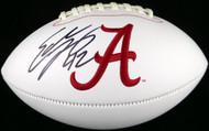 Sale!! Eddie Lacy Autographed White Logo Football Alabama Crimson Tide MCS Holo Stock #124647