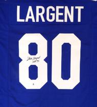 "Seattle Seahawks Steve Largent Autographed Blue Jersey ""HOF 95"" Beckett BAS Stock #124674"