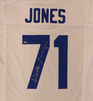 Seattle Seahawks Walter Jones Autographed White Jersey MCS Holo Stock #124695