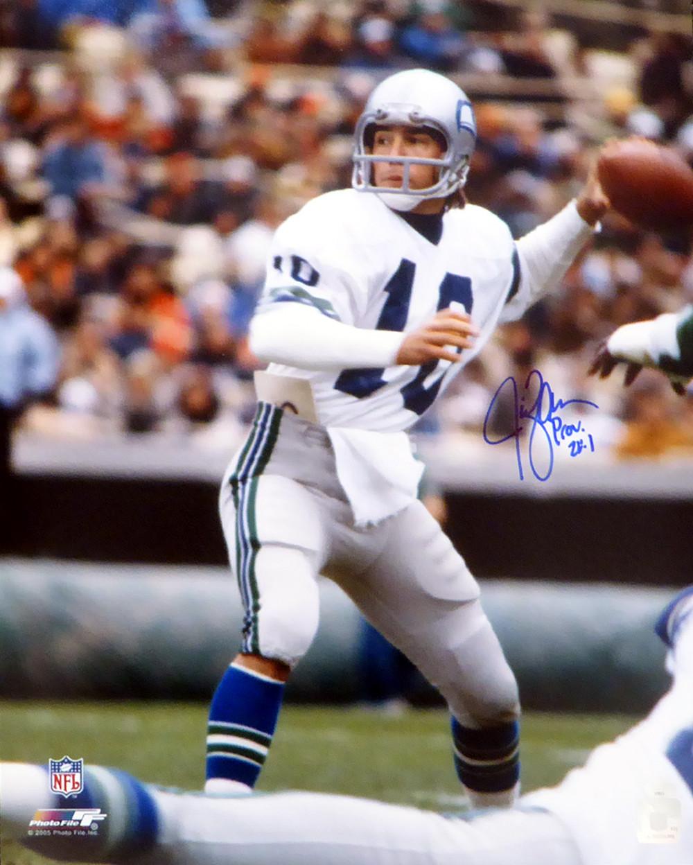 Nice Jim Zorn Autographed 16x20 Photo Seattle Seahawks MCS Holo Stock