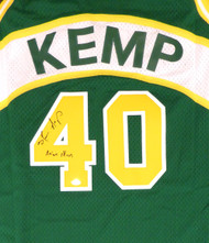 "Seattle Sonics Shawn Kemp Autographed Green Adidas Hardwood Classics Jersey ""Reign Man"" MCS Holo Stock #125205"
