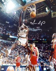 Shawn Kemp Autographed 16x20 Photo Seattle Sonics MCS Holo Stock #125213