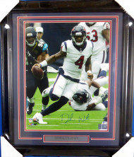 Deshaun Watson Autographed Framed 16x20 Photo Houston Texans Beckett BAS Stock #126656