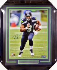 Russell Wilson Autographed Framed 16x20 Photo Seattle Seahawks RW Holo Stock #126670