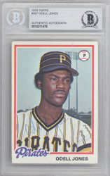 Odell Jones Autographed 1978 Topps Card #407 Pittsburgh Pirates Beckett BAS #10211476