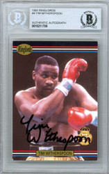 Tim Witherspoon Autographed 1991 Ringlords Card #4 Beckett BAS #10211708