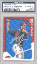 Madison Bumgarner Autographed 2010 Topps 2020 Rookie Card #T9 San Francisco Giants PSA/DNA Stock #128986
