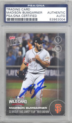 Madison Bumgarner Autographed 2016 Topps Now Card #543-A San Francisco Giants PSA/DNA Stock #128989