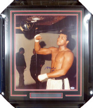 Muhammad Ali Autographed Framed 16x20 Photo PSA/DNA #S14047