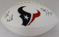 Deshaun Watson & DeAndre Hopkins Autographed Houston Texans White Logo Football Beckett BAS Stock #129170