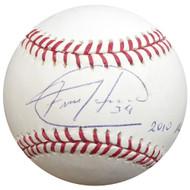 "Felix Hernandez Autographed Official MLB Baseball Seattle Mariners ""2010 AL CY"" PSA/DNA ITP #4A59725"