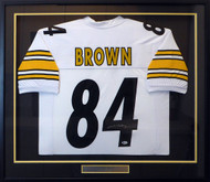 Pittsburgh Steelers Antonio Brown Autographed Framed White Jersey Beckett BAS Stock #130314