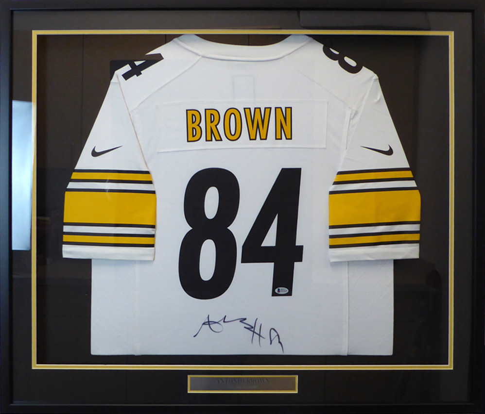 76b60555069 Pittsburgh Steelers Antonio Brown Autographed Framed White Nike Jersey  Beckett BAS Stock #130316. $499.00. Image 1