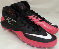 Russell Wilson Autographed Pink Nike Cleats Shoes Seattle Seahawks RW Holo Stock #130720