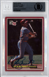 Mike Schmidt Autographed 1984 Donruss Action All Star Card #57 Philadelphia Phillies Beckett BAS #10380448