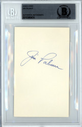 Jim Palmer Autographed 3x5 Index Card Baltimore Orioles Beckett BAS #10380474